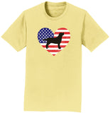 USA Flag Lab Silhouette - Adult Unisex T-Shirt