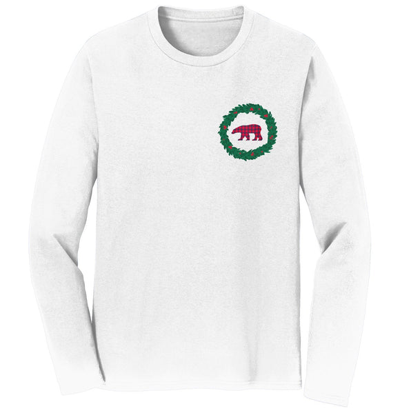 Bear Wreath - Adult Unisex Long Sleeve T-Shirt