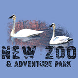 New Zoo Trumpeter Swans Sunset - Adult Tri-Blend T-Shirt