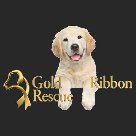Gold Ribbon Rescue Puppy Logo - Adult Unisex Crewneck Sweatshirt