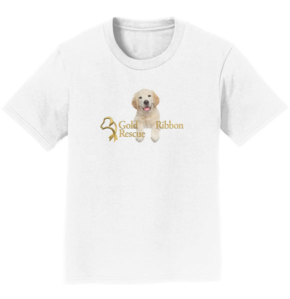 Gold Ribbon Rescue Puppy Logo - Youth T-Shirt