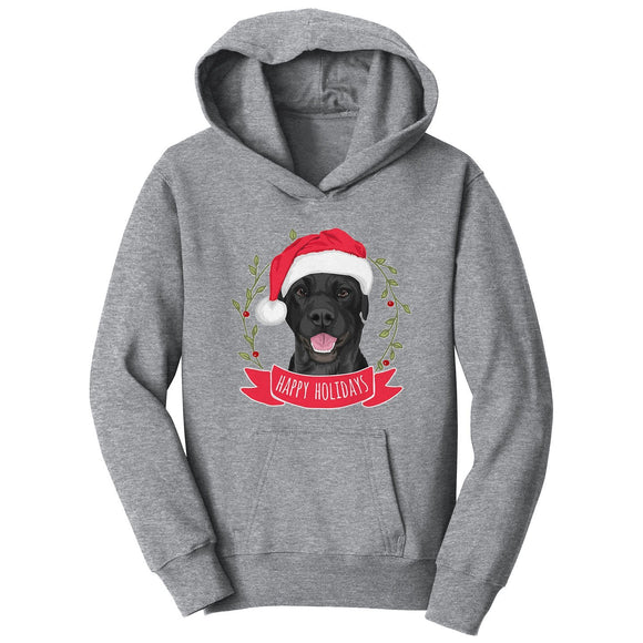 WCLRR - Happy Holidays Lab - Kids' Unisex Hoodie Sweatshirt
