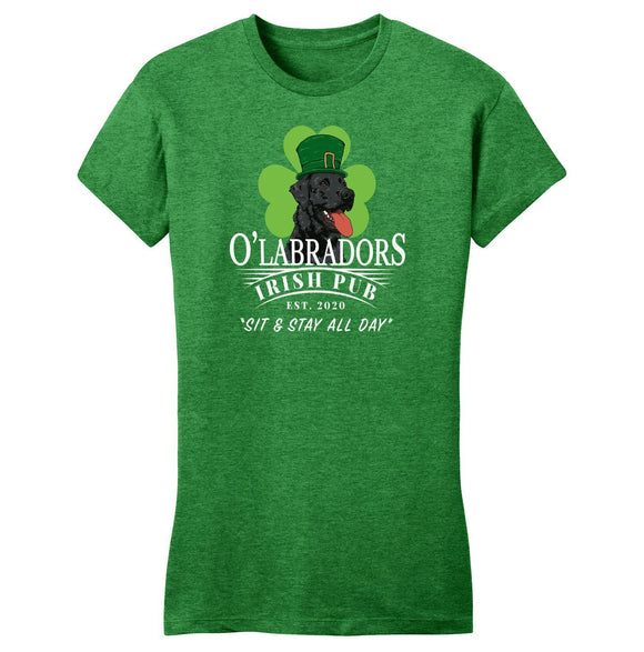 WCLRR - O'Labradors Irish Pub - Women's Fitted T-Shirt