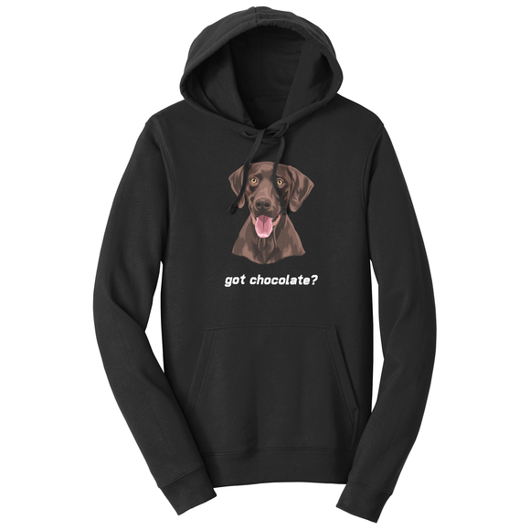 WCLRR - Chocolate Lab (Got Chocolate?) - Adult Unisex Hoodie Sweatshirt