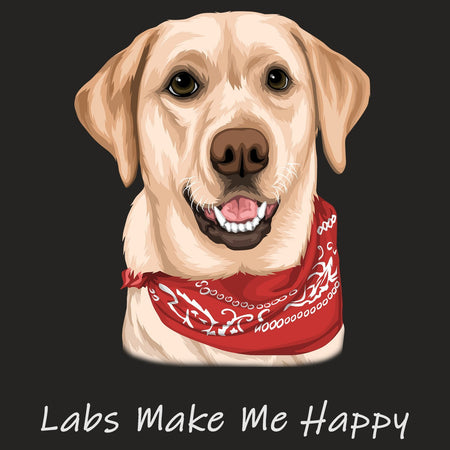 Labs Make Me Happy - Adult Tri-Blend T-Shirt