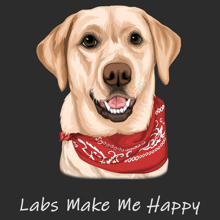 Yellow Lab with Bandana - Adult Unisex Hoodie Sweatshirt