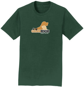 Golden Rescue South Florida Logo - Adult Unisex T-Shirt