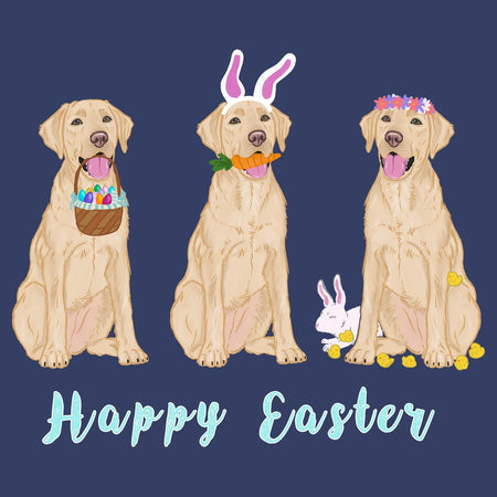 Easter Yellow Labrador Line Up - Kids' Unisex T-Shirt