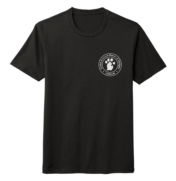 Golden Retriever Rescue of Michigan Logo - Left Chest White - Tri-Blend T-Shirt
