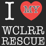I Heart My WCLRR Rescue - Adult Unisex T-Shirt