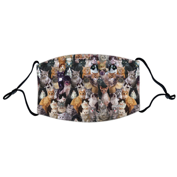 Parker Paws Store - Cat Collage - Adjustable Face Mask