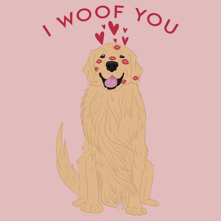 Golden Retriever I Woof You - Women's Fitted T-Shirt