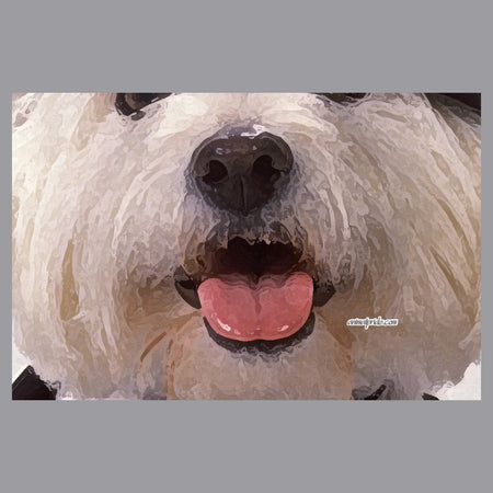 Westie Face - Adult Adjustable Face Mask