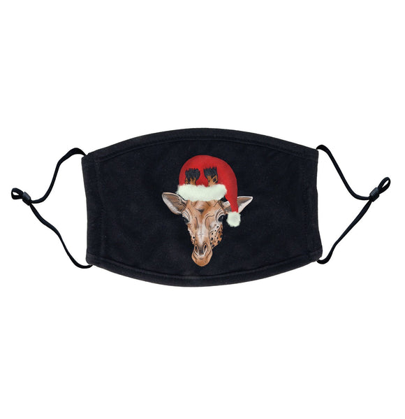 Christmas Giraffe - Adult Adjustable Face Mask