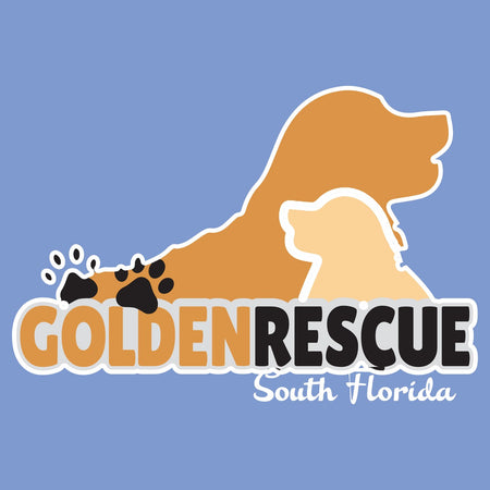 Golden Rescue South Florida Logo - Adult Tri-Blend T-Shirt