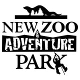 NEW Zoo and Adventure Park Black & White Logo - Women's V-Neck Long Sleeve T-Shirt