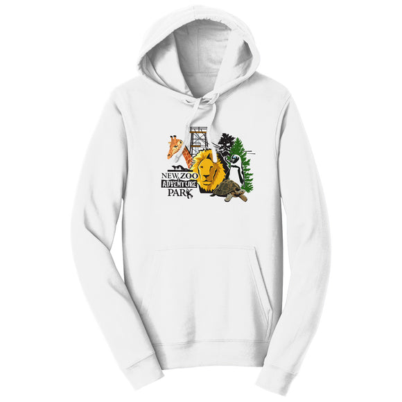 NEW Zoo & Adventure Park - NEW Zoo Minimalist Animals - Adult Unisex Hoodie Sweatshirt