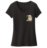 Gold Ribbon Rescue - 20 Years - Left Chest Logo - Women's V-Neck T-Shirt