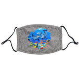 Dolphin Reef - Adult Adjustable Face Mask