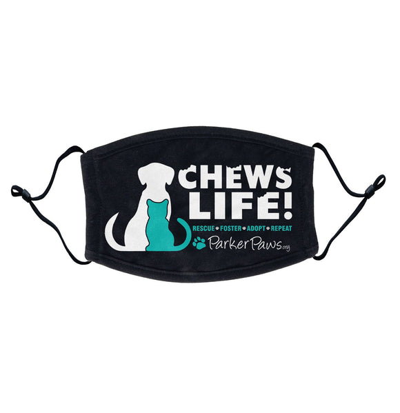 Parker Paws Chews Life - Adult Adjustable Face Mask