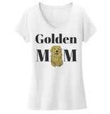 Golden Mom Illustration - Women's V-Neck T-Shirt