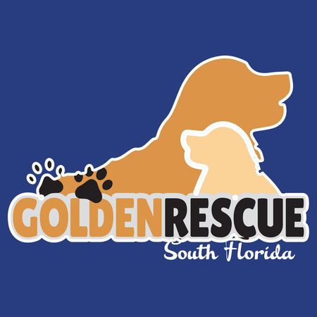 Golden Rescue South Florida Logo - Women's Fitted T-Shirt