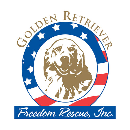 Golden Retriever Freedom Rescue Logo - Left Chest - Adult Unisex Hoodie Sweatshirt