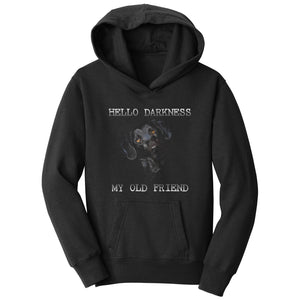 Hello Darkness My Old Friend - Black Lab - Kids' Unisex Hoodie Sweatshirt - WCLRR