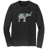 Elephant Mosaic - Adult Unisex Long Sleeve T-Shirt