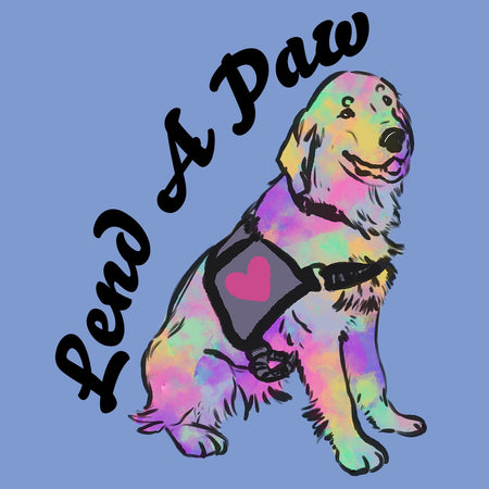 Lend a Paw Golden Retriever - Adult Tri-Blend T-Shirt