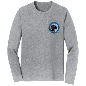 The Labrador Retriever Club - LRC Logo - Left Chest Blue - Adult Unisex Long Sleeve T-Shirt