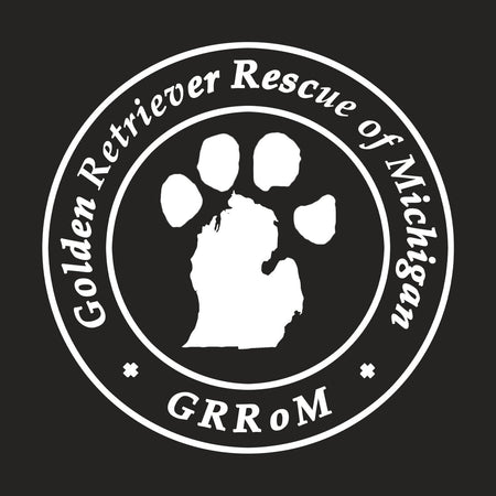 Golden Retriever Rescue of Michigan Logo - Left Chest White - Adult Tri-Blend T-Shirt