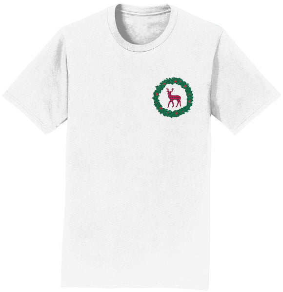 Deer Wreath - Adult Unisex T-Shirt