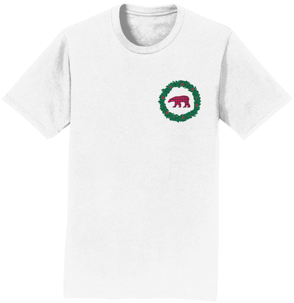 Bear Wreath - Adult Unisex T-Shirt