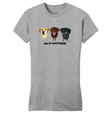 One of Each Labrador Please - Women's Fitted T-Shirt
