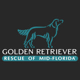 Golden Retriever Rescue of Mid-Florida Logo - Adult Unisex Crewneck Sweatshirt