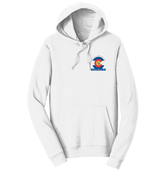 Golden Retriever Freedom Rescue Colorado Flag Logo - Left Chest - Hoodie