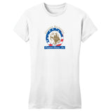 Golden Retriever Freedom Rescue Logo - Full Front - Women's Fitted T-Shirt