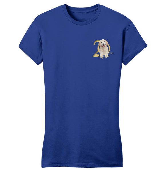 Gold Ribbon Rescue - 20 Years - Left Chest Logo - Ladies' Fitted T-Shirt
