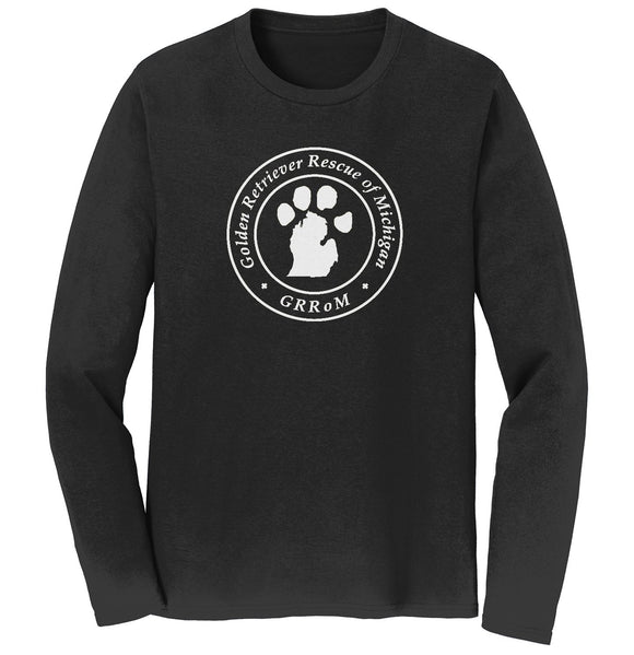 Golden Retriever Rescue of Michigan Logo - Full Front White - Long Sleeve T-Shirt