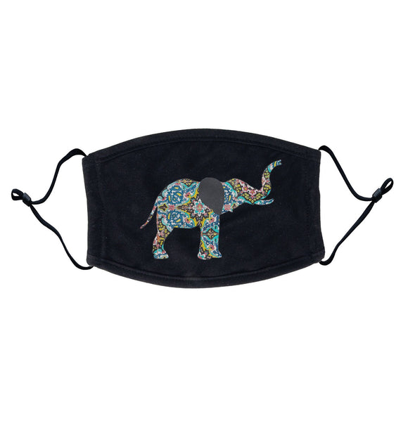Elephant Mosaic Adjustable Face Mask | International Elephant Foundation
