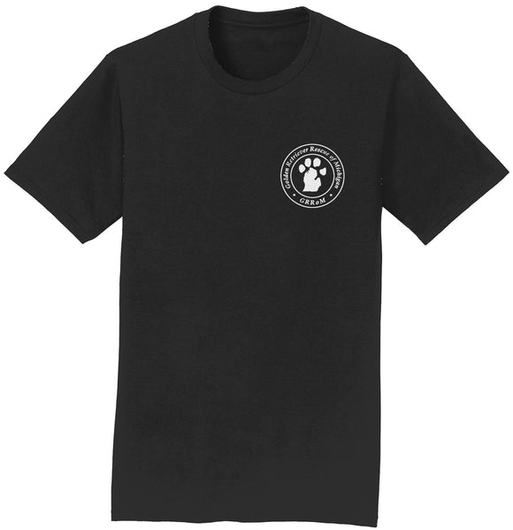 Golden Retriever Rescue of Michigan Logo - Left Chest White - T-Shirt