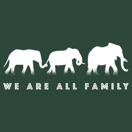 We Are All Family Elephants Silhouette - Adult Unisex T-Shirt