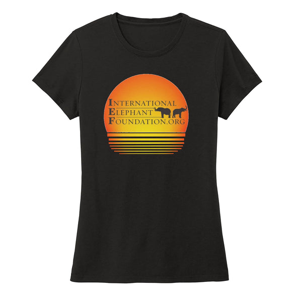 International Elephant Foundation - IEF Sunset Logo - Women's Tri-Blend T-Shirt
