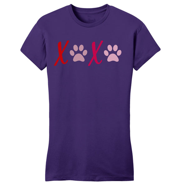 XOXO Paws - Women's Fitted T-Shirt