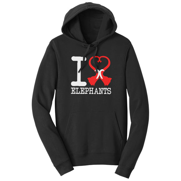 International Elephant Foundation - I Heart Elephants Hoodie