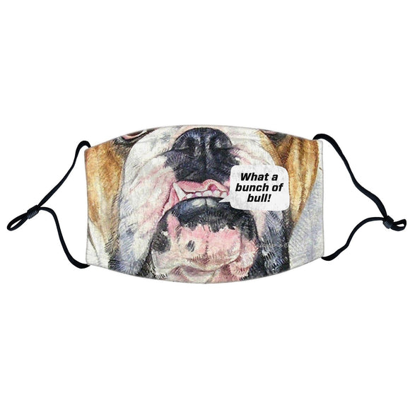 Parker Paws Store - Bulldog Face - Bunch of Bull - Adjustable Face Mask