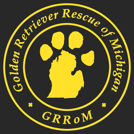 Golden Retriever Rescue of Michigan Logo - Full Front - Adult Adjustable Face Mask
