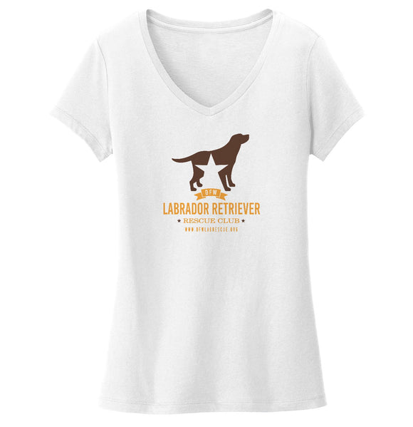 DFW Lab Rescue Logo - Ladies' V-Neck T-Shirt