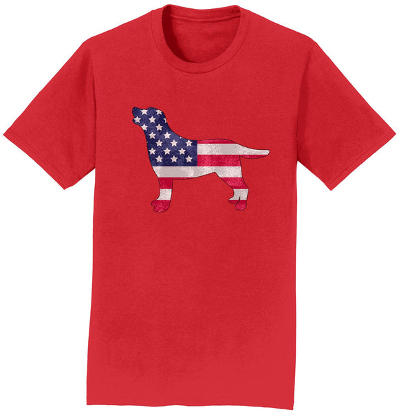 USA Flag Pattern Lab Silhouette - Shirt - WCLRR Online Store